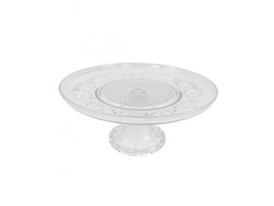 Prato Bolo vidro Clear 30x30x9 cm